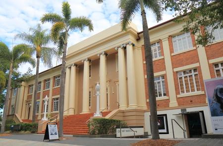 Brisbane Australia - July 9, 2017: QUT Queensland University of Technology art museum in Brisbane Australia.
