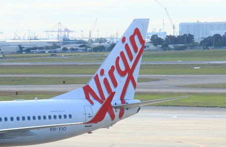 Brisbane Australia - July 10, 2017: Virgin airline airplane at Brisbane International airport.