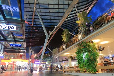 Brisbane Australia - July 9, 2017: People visit Queen Street mall in downtown Brisbane Australia.