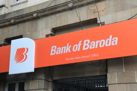 Mumbai India - October 11, 2017: Bank of Baroda sign. Bank of Baroda is an Indian state-owned International banking and financial services company.