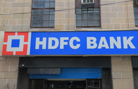 Mumbai India - October 11, 2017: HDFC bank India. HDFC bank is Indias largest private sector lender by assets