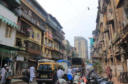 Mumbai India - October 13, 2017: People visit Islamic area in downtown Mumbai India.