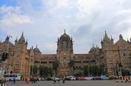 Mumbai CST train station historical architecture Mumbai India