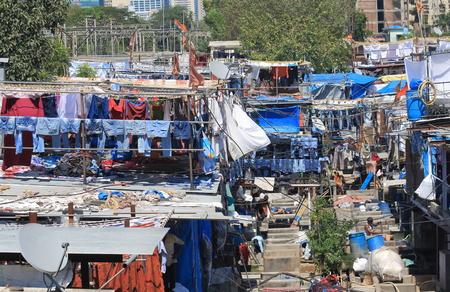 Dhobi Ghat cityscape Mumbai India
