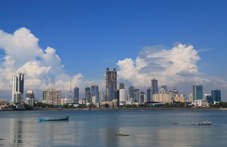 De wolkenkrabbercityscape India van de binnenstad van Mumbai Bombay Stockfoto