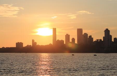 Mumbai downtown sunset cityscape India