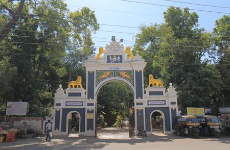 Udaipur India - October 16, 2017: People visit Udaipur Zoo in Udaipur India. Editorial
