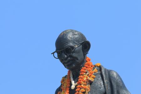Udaipur India - October 16, 2017: Mahhatma Gandhi statue at Sajjan Nivas park Udaipur India.