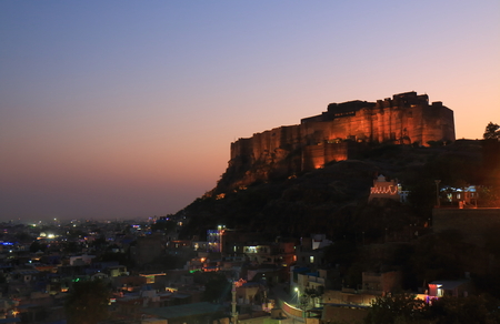 Mehrangarh Fort sunset view Jodhpur India Stock fotó