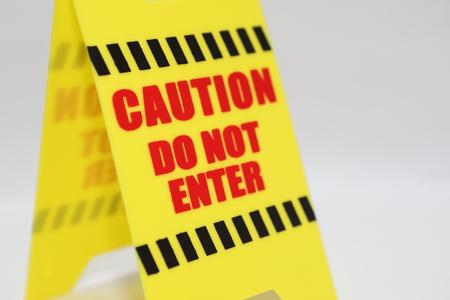 Caution do not enter signage Stock Photo