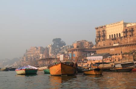 Ganges river ghat Varanasi India