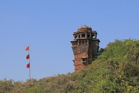 Udaipur India - October 17, 2017: Moti Magri fortress Udaipur India