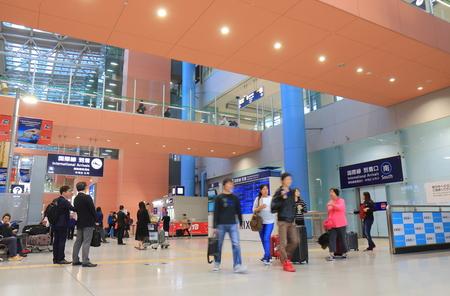 Osaka Japan - 13 November, 2017: People travel at Kansai international airport Osaka Japan 에디토리얼