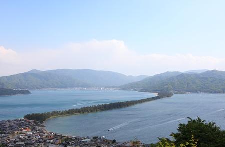 Amanohashidate landscape Kyoto Japan. Amanohashidate is one of Japan's best three scenic views. 스톡 콘텐츠