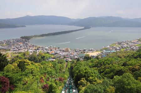Amanohashidate landscape Kyoto Japan. Amanohashidate is one of Japans best three scenic views. 스톡 콘텐츠