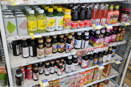 Kanazawa Japan - August 04, 2018: Japanese energy drink sold at convenience store in Japan