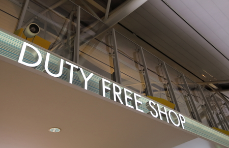 Duty free shop sign