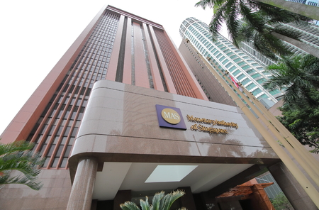 Singapore-November 15, 2018: Monetary Authority of Singapore MAS... Monetary Authority of Singapore MAS is Singapores central bank and financial regulatory authority established in 1974 Redakční