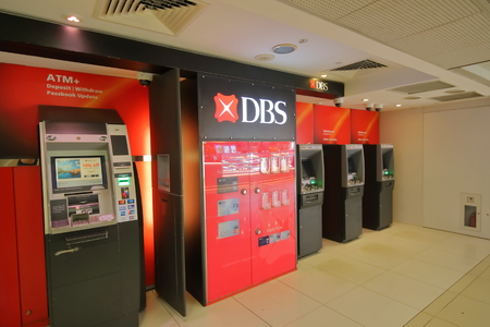 Singapore-November 16, 2018: DBS bank ATM in Singapore