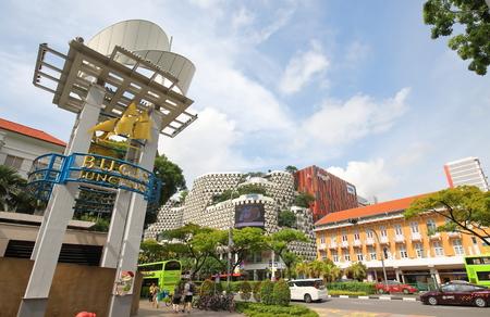Singapore-November 16, 2018: Unidentified people visit Bugis Junction Shopping mall Singapore