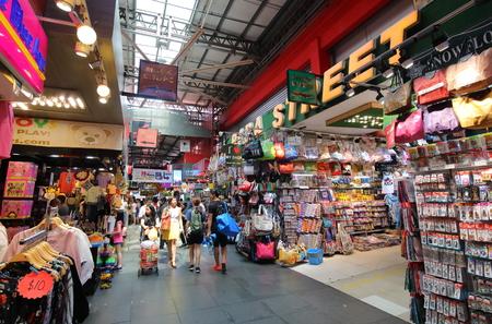 Singapore-November 16, 2018: Unidentified people visit Bugis street Shopping arcade Singapore