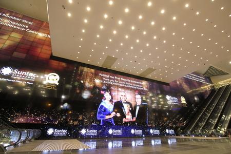 Singapore-November 17, 2018: Suntec City Convention and Exhibition Centre Singapore Editorial