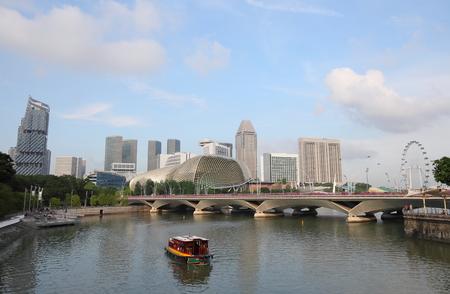 Singapore river cityscape in Singapore.