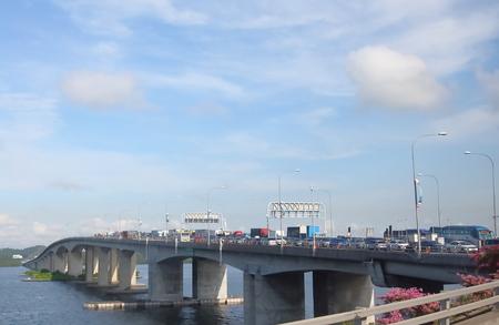 Singapore-November 19, 2018: Traffic jam at Johor bahru Singapore causeway.