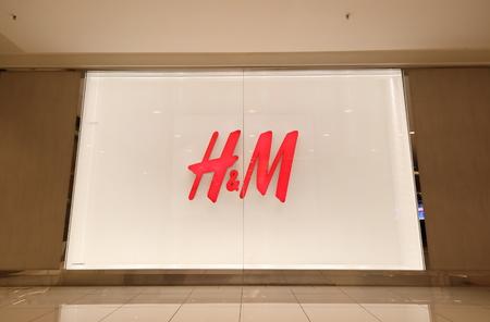 Kuala Lumpur Malaysia - November 19, 2018: H and M store in Bukit Bintang Kuala Lumpur Malaysia