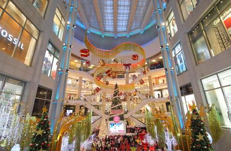 Kuala Lumpur Malaysia - November 19, 2018: Unidentified people visit Pavilion shopping mall in Bukit Bintang Kuala Lumpur Malaysia