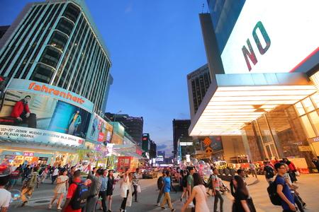 Kuala Lumpur Malaysia - November 19, 2018: Unidentified people visit Bukit Bintang shopping street in Kuala Lumpur Malaysi a