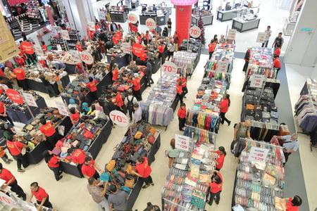 Kuala Lumpur Malaysia - November 21, 2018: Unidentified people visit Sogo shopping mall in Kuala Lumpur Malaysia