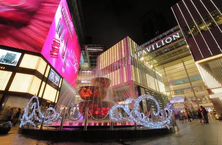 Kuala Lumpur Malaysia - November 21, 2018: Unidentified people visit Pavilion shopping mall in Bukit Bintang Kuala Lumpur Malaysia 에디토리얼