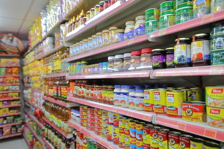 Kuala Lumpur Malaysia - November 22, 2018: Asian grocery store in Kuala Lumpur Malaysia Redactioneel