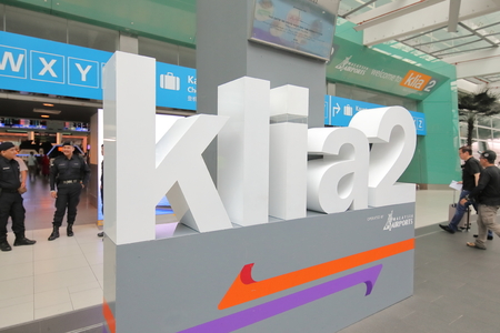 Kuala Lumpur Malaysia-November 23, 2018: Unidentified people travel at KLIA airport in Kuala Lumpur Malaysia.