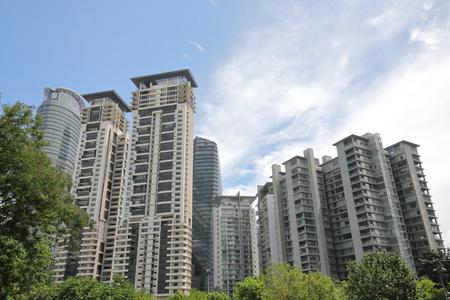 Wohnwohnung in Kuala Lumpur Malaysia Standard-Bild