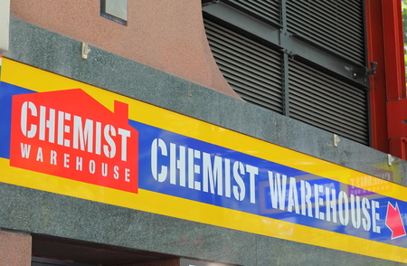 Melbourne Australia - December 1, 2018: Chemist Warehouse shop. Chemist Warehouse continues to be at the forefront of internet pharmacy in Australia Publikacyjne