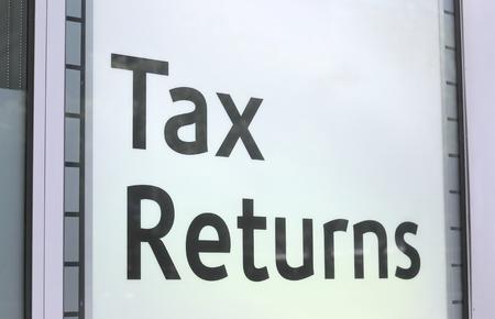 Tax return sign Australia