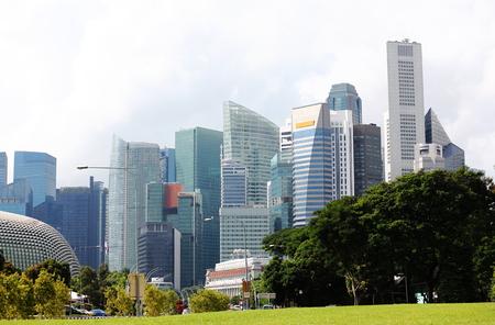 Singapore-November 15, 2018: Singapore downtown cityscape