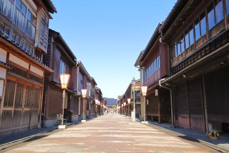 Higashiyama teahouse old house street Kanazawa Japan