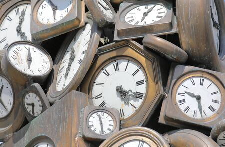 Old clock pile background texture 스톡 콘텐츠