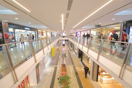 Madrid Spain - May 27, 2019: People visit Centro Comercial Principe Pio Shopping mall Madrid Spain.