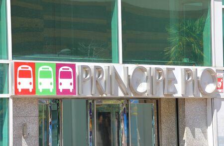 Madrid - Madrid - May 27, 2019: Principe Pio bus station Madrid Spain
