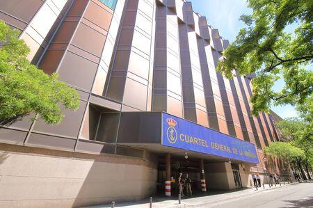 Madrid Spain - May 28, 2019: Spanish Navy headquarters Cuartel General de la Armada building Madrid Spain Banco de Imagens - 130572964