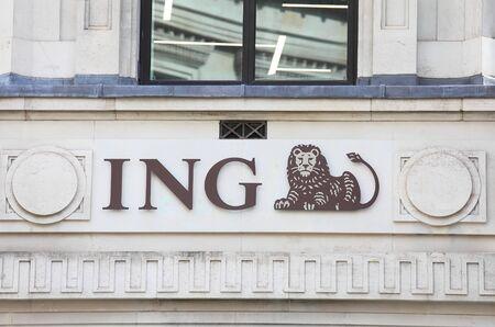 London England - June 2, 2019: ING bank UK company logo
