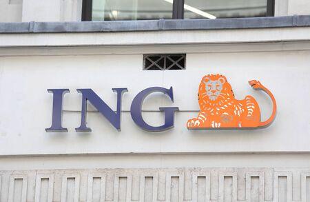 London England - June 2, 2019: isbank Turkey company logo. Banco de Imagens - 130878679
