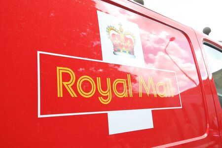 London England - June 3, 2019: Royal mall post office delivery car London UK