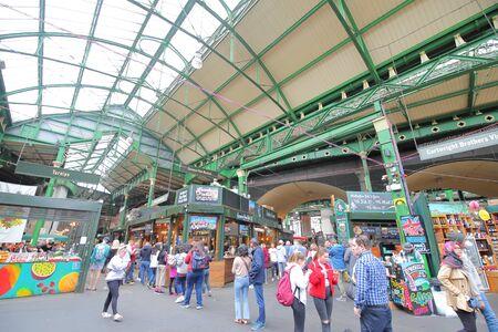 London England - June 5, 2019: People visit Borough market London UK