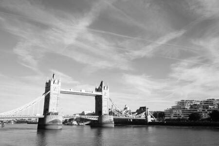Tower bridge black and white cityscape London England