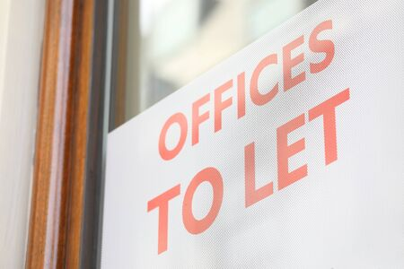Office to let sign real estate Stock fotó
